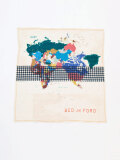 "【2021SS】 BED J.W. FORD (ベッドフォード) ""MAP SCARF 53×53"" <スカーフ>"