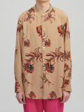 """【2021SS】 BED J.W. FORD (ベッドフォード) """"STAND COLLAR FEATHER BLOUSE"""" <シャツ> - BEIGE"""
