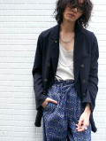 """【2021SS】 BED J.W. FORD (ベッドフォード) """"DOUBLE-BREASTED JACKET"""" <ダブルジャケット> - BLACK"""