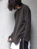 "【17AW】 BED J.W. FORD (ベッドフォード) ""Crew Neck."" <クルーネックニット> - BROWN"