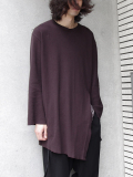 "【17AW】 BED J.W. FORD (ベッドフォード) ""Back Henry Neck."" <カットソー> - CHOCOLATE"