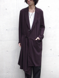 "【17SS】 BED J.W. FORD (ベッドフォード) ""BATTLE DRESS SCARF COAT. Ver.1"" <コート> - LAVENDER (パープル系)"