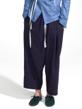 "【18SS】 BED J.W. FORD (ベッドフォード) ""Hi Waist wide. ver.1"" 18SS-B-PT06  <パンツ> - PURPLE"