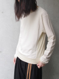 "【19AW】 BED J.W. FORD (ベッドフォード) ""Crew neck"" <カットソー> - NATURAL"