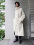 "【19AW】 BED J.W. FORD (ベッドフォード) ""Mods coat"" <モッズコート> - OFF WHITE"