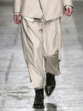 "【19AW】 BED J.W. FORD (ベッドフォード) ""Layered pants"" <スラックス> - OFF WHITE"