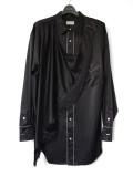 "【19AW】 BED J.W. FORD (ベッドフォード) ""Fringe scarf shirt"" <シャツ> - BLACK"