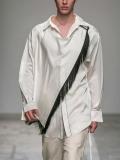 "【19AW】 BED J.W. FORD (ベッドフォード) ""Fringe scarf shirt"" <シャツ> - WHITE"