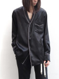 "【19AW】 BED J.W. FORD (ベッドフォード) ""Satin OGAMI shirt ver.1"" <シャツ> - BLACK"
