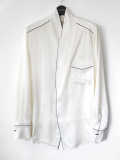 "【19AW】 BED J.W. FORD (ベッドフォード) ""Satin OGAMI shirt ver.1"" <シャツ> - WHITE"