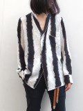 "【19AW】 BED J.W. FORD (ベッドフォード) ""Stripe OGAMI shirt ver.2"" <シャツ> - BLACK"
