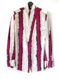 "【19AW】 BED J.W. FORD (ベッドフォード) ""Stripe OGAMI shirt ver.2"" <シャツ> - BURGUNDY"