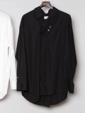 """【19SS】 BED J.W. FORD (ベッドフォード) """"Pull over shirt ver.2"""" <シャツ>  - BLACK"""