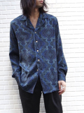 "【19SS】 BED J.W. FORD (ベッドフォード) ""Open collar shirt ver.2"" <シャツ>  - NAVY"