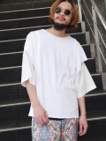 "【19SS】 BED J.W. FORD (ベッドフォード) ""Cut cut-saw"" <カットソー> - WHITE"