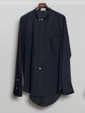 """【2020AW】 BED J.W. FORD (ベッドフォード) """"Cotton Silk No Collar Shirt"""" <シャツ> - BLACK"""
