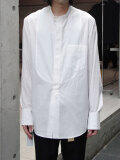 "【2020AW】 BED J.W. FORD (ベッドフォード) ""Cotton Silk No Collar Shirt"" <シャツ> - WHITE"