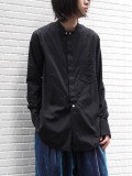 "【2020AW】 BED J.W. FORD (ベッドフォード) ""Cotton Silk No Collar Shirt"" <シャツ> - BLACK"