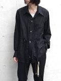 "【2020AW】 BED J.W. FORD (ベッドフォード) ""Cotton Silk Ribbon Shirt"" <シャツ> - BLACK"