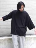 "【21SS】Dulcamara (ドゥルカマラ) ""アシンメトリーミディアムスリーブT"" - BLACK"