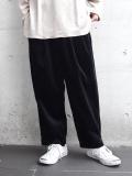 """<18AW> Dulcamara (ドゥルカマラ) """"18AW コーデュロイタックワイドPT パンツ"""" - BLACK"""