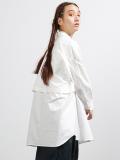 """Dulcamara (ドゥルカマラ) """"トレンチシャツ 18AW - WHITE"""" <ロングシャツ>"""