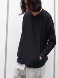 """【SHELTER別注】 Dulcamara (ドゥルカマラ) """"18SS SWトレーナー"""" - BLACK"""