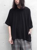 """<SHELTER別注/19SS> Dulcamara (ドゥルカマラ) """"スクエアSスリーブT"""" - BLACK"""
