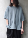 "<SHELTER別注/19SS> Dulcamara (ドゥルカマラ) ""スクエアSスリーブT"" - SMOKE BLUE"