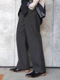 "dauerbrenner by Edwina Horl  (エドウィナホール) // ""GLOCKENHOSE"" <ZEITLOS> <フレアパンツ> - GRAY"