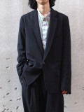 "dauerbrenner by Edwina Horl  (エドウィナホール) // ""SAKKO <EINREIHER>"" <テーラードジャケット> - BLACK"