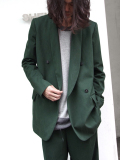 "<16AW> Edwina Horl  (エドウィナホール) // ""TAILORED JACKET"" <テーラードジャケット> - DARK GREEN"