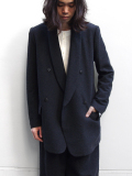 "【SALE】 Edwina Horl  (エドウィナホール) // ""WOOL TAILORED JACKET"" <テーラードジャケット> - AGELESS NAVY"