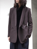 "<16AW> Edwina Horl  (エドウィナホール) // ""WOOL TAILORED JACKET"" <テーラードジャケット> - AGELESS BROWN"