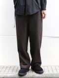 "<16AW> Edwina Horl  (エドウィナホール) // ""WOOL SIDE TUCK WIDE PANTS"" <ワイドパンツ> - AGELESS BROOWN"