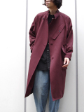 "LAST 1pc.<17AW> Edwina Horl  (エドウィナホール) // ""STAND COLLAR COAT"" <スタンドカラーコート> - BURGUNDY"