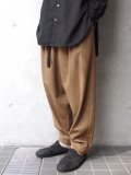 "LAST 1pc.<17AW> Edwina Horl  (エドウィナホール) // ""WIDE PANTS"" <ワイドパンツ> - ORIGINAL CASHMERE BEAVER ""THE EARTH""(CAMEL)"