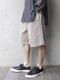 "<17SS> Edwina Horl  (エドウィナホール) // ""WIDE SHORT PANTS"" <ショートパンツ> - ORIGINAL DOBBY (BROWN)"