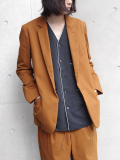 "<18AW> Edwina Horl  (エドウィナホール) // ""TAILORED JACKET 2018AW"" - CAMEL <テーラードジャケット>"