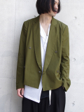 "<SALE> Edwina Horl  (エドウィナホール) // ""TAILORED JACKET 2018SS"" <テーラードジャケット> - KHAKI"