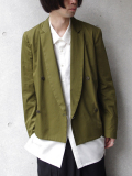"<18SS> Edwina Horl  (エドウィナホール) // ""TAILORED JACKET 2018SS"" <テーラードジャケット> - KHAKI"