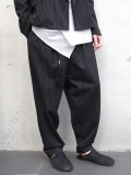 "<18SS> Edwina Horl  (エドウィナホール) // ""WIDE PANTS 2018SS"" <ワイドパンツ> - BLACK PIN-STRIPE"