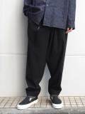 "<19AW> Edwina Horl  (エドウィナホール) // ""WIDE PANTS"" <ワイドパンツ> - 無言の響き(BLACK)"