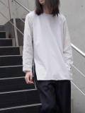 """<19SS> Edwina Horl  (エドウィナホール) // """"袖切り替えカットソー"""" - LIGHT GRAY"""