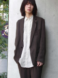 "<19SS> Edwina Horl  (エドウィナホール) // ""TAILORED JACKET"" <テーラードジャケット> - REALITY(BROWN)"