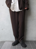 "<19SS> Edwina Horl  (エドウィナホール) // ""WIDE PANTS"" <ワイドパンツ> - REALITY(BROWN)"