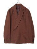 "Edwina Horl  (エドウィナホール) // ""TAILORED JACKET ""SAKKO"" <テーラードジャケット> - BROWN ""minomushi"""