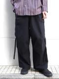 """<20SS> Edwina Horl  (エドウィナホール) // """"CARGO PANTS"""" <カーゴパンツ> - black"""