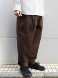 """<20SS> Edwina Horl  (エドウィナホール) // """"WIDE PANTS"""" <ワイドパンツ> - brown"""