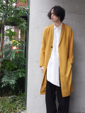 "<17SS>FFIXXED STUDIOS  (フィックス) // ""FLOW COAT"" <コート> - GOLDEN YELLOW"
